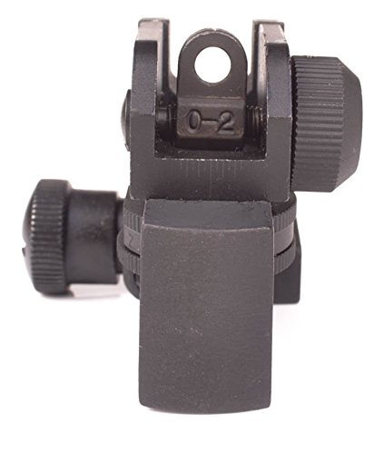 Rear Iron Sight For Ar Style Rifles Picatinny Mount