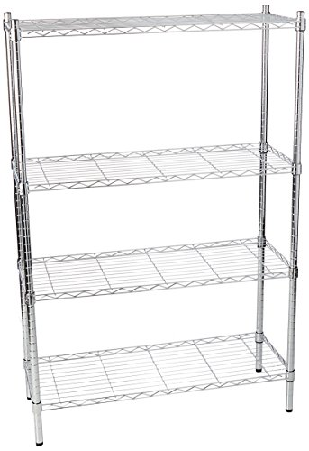 Review Honey-Can-Do SHF-01906 Adjustable Storage Shelving Unit, 250-Pounds Per Shelf, Chrome, By Honey-Can-Do by Honey-Can-Do