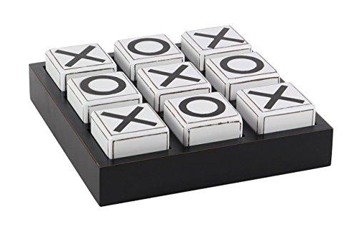 Deco 79 56998 Wooden Tic Tac Toe Game, 4