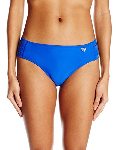 Body Glove Women's Smoothies Nuevo Contempo Full Coverage Bikini Bottom, Abyss, S