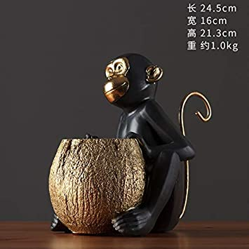 PA Ornaments Statues Decorations Nordic Creative Monkey Holding Cans Ornaments Modern Minimalist Home Living Room Porch Children'S Room Study Decoratcrafts,Lx-17258 (E13)
