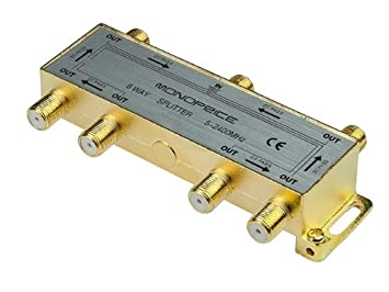 PREMIUM 6 way Cable coaxial Splitter tipo F - 2400 mhz~5 tornillo (Video