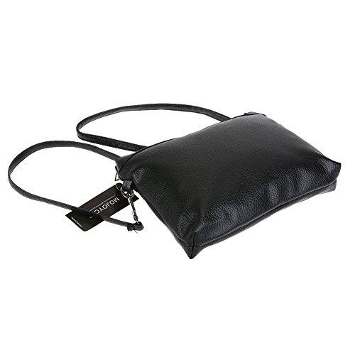 Demiawaking Neue Mode Frauen PU Leder 2 stücke Schulter Crossbody Tasche Handtasche Klassische Schwarz