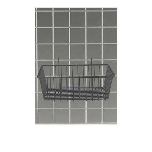 Pack of 3 Black Powder Coat Finish Mini Grid Basket 12''L x 12''W x 4''D by Mini-Grid Basket