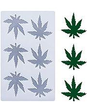 Fewo Marijuana Leaf Embossed Fondant Maple Silicone Mold for Chocolate Candy Gum Paste Polymer Clay Resin Kitchen Baking Sugar Craft Cake Cupcake Decorating Tools