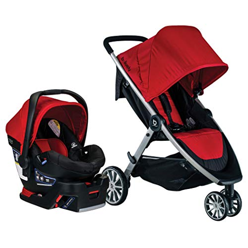 BRITAX B-Lively Travel System with B-Safe 35 Infant Car Seat | One Hand Fold, Cardinal