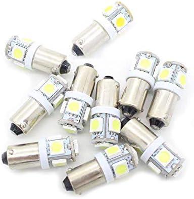 10 Pcs BA9S T4W LED Bulbs,T11 H6W W6W 1895 1445 Car Light Bulb 5050 5SMD 12V 150LM 6000K for Car Door Lights Wedge Light Side Indicator Signal Light Reverse Backup Light Number Plate Light