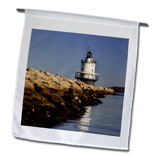 3dRose fl_144534_1 Spring Point Ledge Lighthouse, Portland, Maine, Usa-Us20 Bjn0021-Brian Jannsen Garden Flag, 12 by 18-Inch