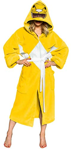 (Power Rangers Men's Mighty Morphin Robe, Yellow, One)