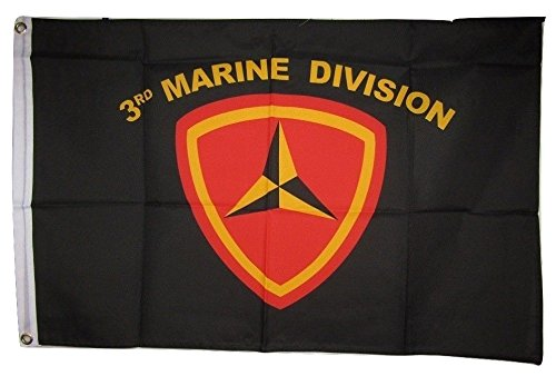 ALBATROS 2 ft x 3 ft USMC Marines 3rd Division Marine Corps Flag 2x3 Banner Poly Grommets for Home and Parades, Official Party, All Weather Indoors Outdoors ()