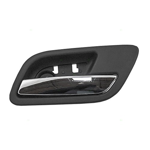 Passengers Rear Inside Interior Door Handle Chrome Lever with Black Housing Repalcement for Chevy GMC Cadillac Pickup Truck SUV 15939084