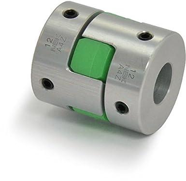 Bore Diameters 1 mm and 1 mm Aluminum A2017 NBK MJC-55-EGR-1-1 Jaw Flexible Coupling Set Screw Type