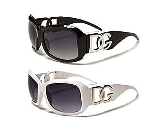 Amazon.com: DG Eyewear 2 pairs Black & White: Clothing
