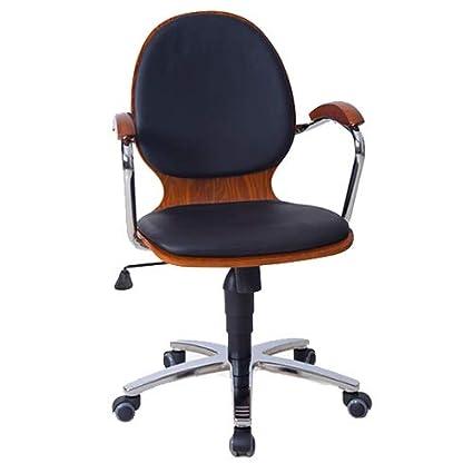 HYRL Sillas ergonómicas, Escritorio Oficina sillas de Cuero de ...