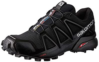 Salomon Speedcross 4 Women's Trail Running Shoes, Black/Black/Black Metallic, 6 US