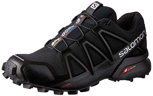 Salomon Women's Speedcross 4 W Trail Runner, Black Metallic, 8.5 M ()