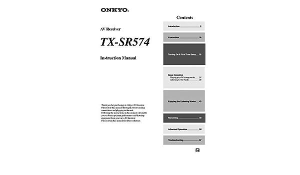 onkyo tx sr574 manual