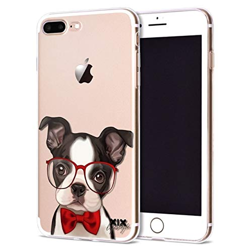MISC Black White Dog Themed iPhone XR Case Red Transparent Boston Terrier Cover Cute Dogs Canine Hound Pet Animal Puppy Doggy Family Happy Woof Pooch Friend, Plastic