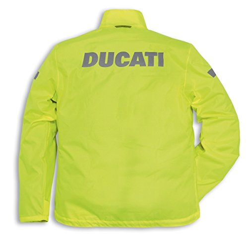 Ducati 981028302 Strada Waterproof Over Jacket - Hi Viz - X-Small