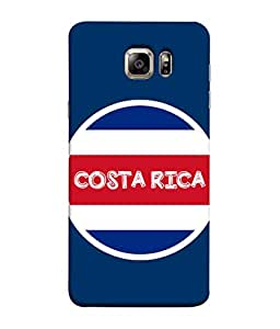 ColorKing Football Costa Rica 04 Blue shell case cover for Samsung S6 Edge