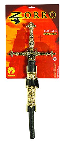Mask Zorro Sword (Rubie's Men's Zorro Novelty Dagger, Multi, One Size)