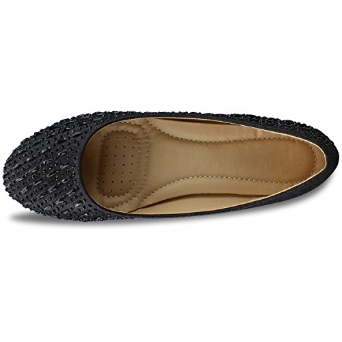 Flats Ballet E Women's Slip Ballerina Closed Black Toe Toe Pointy Premier Standard Suede On Walking Classic Comfortable vH6x1q