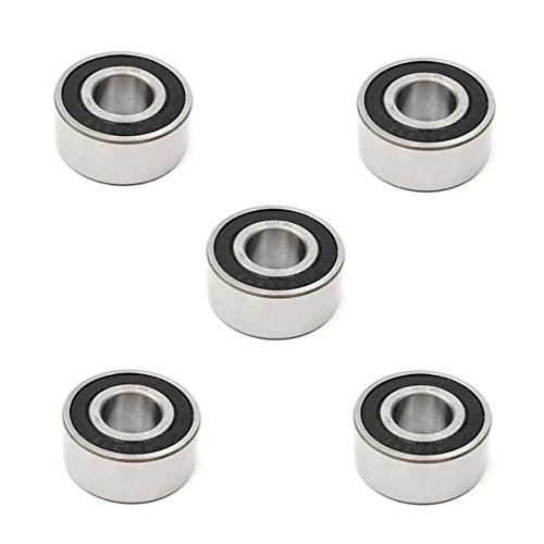 5x 5203 2RS Double Row Sealed Angular Contact Ball Bearings - 17x40x17.5 mm Volar Motorsport Inc