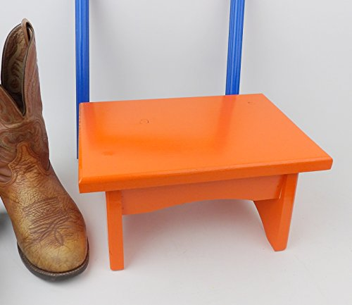 Orange Child's Pet Step Stool Wood Bed Ladder
