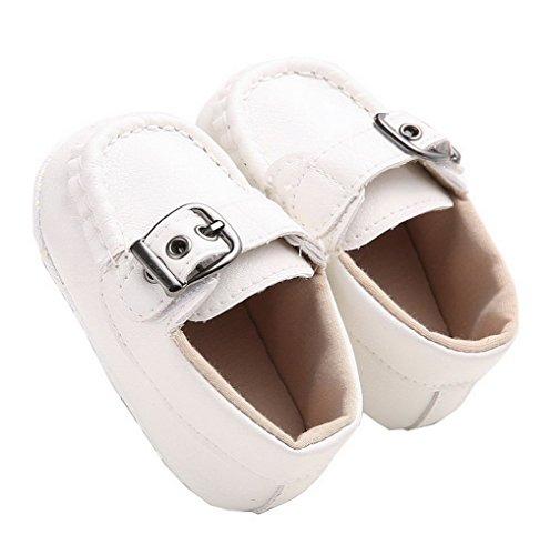 ACMEDE Baby Mädchen Taufschuhe Lauflernschuhe weiche Sohle Schuhe Sneaker Weiß