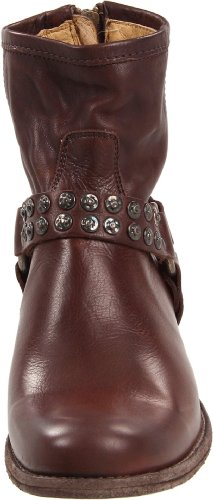 Studded Dark Boot Phillip M 6 US Vintage Soft Women's Brown Harness Frye Leather qXEUP
