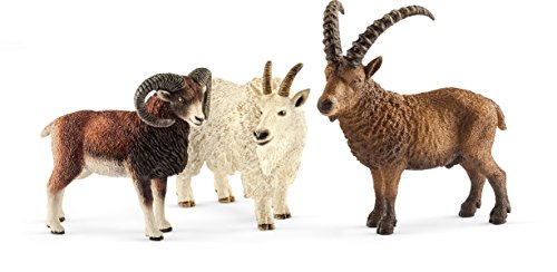 ountain Animals, Goat, Ibex, Animals, Figure, Action Figure, Toy, 41459 (Wildlife Animal Figure)