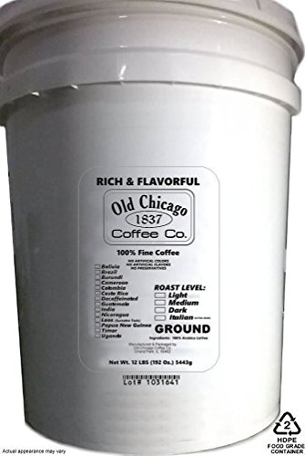 12 Lbs Bulk Ground Coffee (5 Gallon Bucket of Coffee) - 192 Oz. (5,443g)