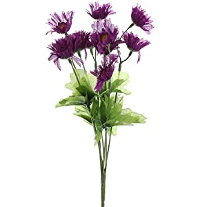 Bundle of Stunning Asters Bursting in Vibrant, Variegated Deep Purple for Spring Decor, Weddings, and Home- Package of 6 Bouquets 95