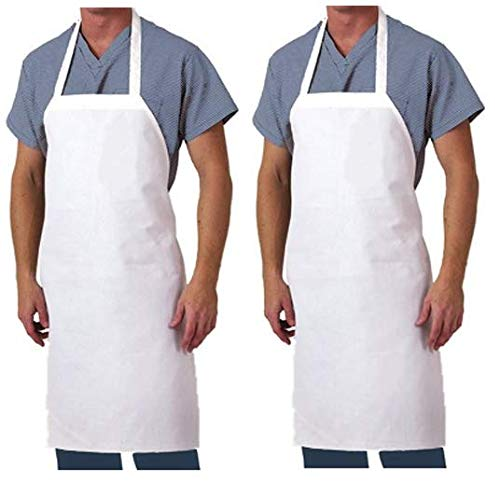 Aunt Martha's 28-Inch by 35-Inch Cotton Kitchen Apron, White
