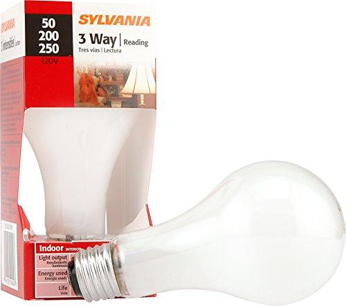 200 Watt 3 Way - Sylvania Home Lighting 19404 Incandescnet 50W/200W/250W 2850K A21 Incandescent 3-Way Bulb