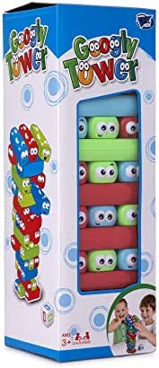 Point Games Googly Tower - Stacking Tower Game with Fun Design - Developmental & Interactive Puzzle, Test