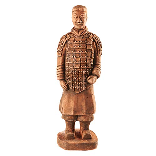 - House Parts Replica Terra Cotta Warrior Commander Statue - Indoor/Outdoor Garden Accent and Lawn Ornament - Made in USA