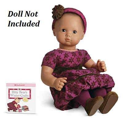 American Girl Bitty Baby Sweet Snowflake Dress (AG Bitty Baby, Bitty Twins) - Sweet Baby Dress