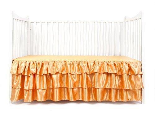 - Tadpoles Ruffled Satin Crib Skirt, Gold