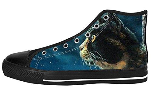 Kvinners Lerret Høy Topp Sko Lerret Shoes12