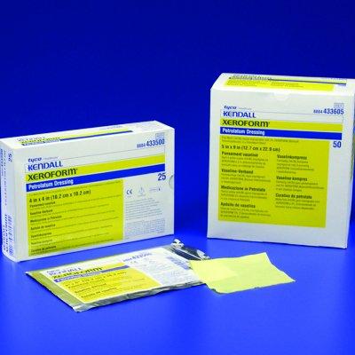 XeroformTM Petrolatum Gauze Dressing-Size: 4'' x 4'': Style: Patch - UOM = Box of 25 by COVIDIEN