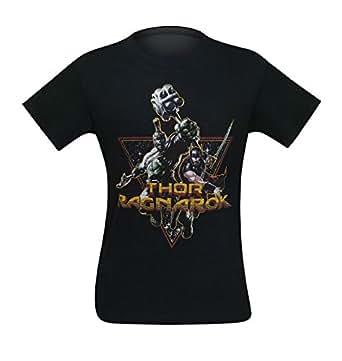 Marvel Thor Ragnarok Hulk Space Buddies T-shirt (Small, Black)