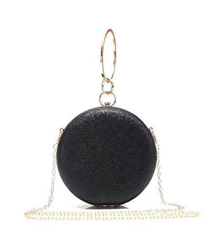 Bag Hard Party Bag LeahWard Sparkle Black Prom Glittery Clutch Small Wedding For 1705 Women's BRUwR8xI