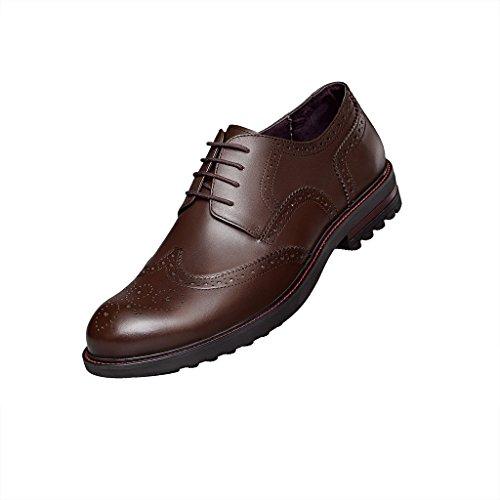 ZRO Mens Formal Modern Wingtip Oxford Dress Shoes Brown