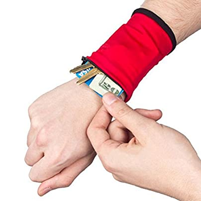 Stretch Wristband with Zipper Wrist Wallet Sweatband Sweat Band Key Money Card Coin Pocket Storage Bag for Sports Fitness Running Cycling Jogging Estimated Price £0.96 -