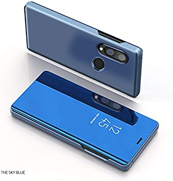 Funda para Huawei P Smart 2019 Estuche Espejo Elegante Cover de Función Inteligente Case para Dormir Despertar Vista Inteligente Carcasa para Huawei P Smart 2019(Azul): Amazon.es: Electrónica