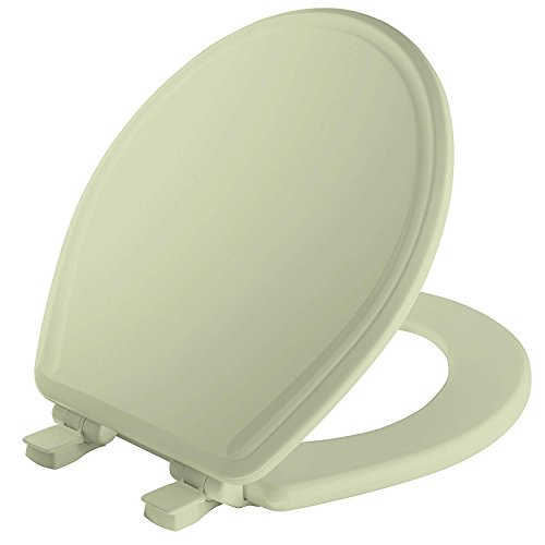 Mayfair Molded Wood Toilet Seat featuring Slow-Close, Easy Clean & Change Hinges and STA-TITE Seat Fastening System, Round, Bone, 48SLOWA 006 - Toilet Seat Bone