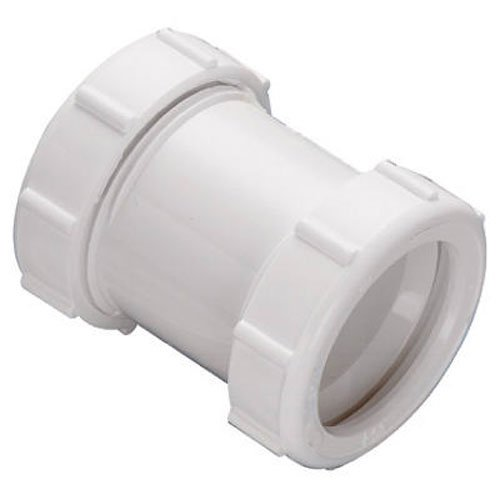 Keeney 46WK 1-1/2-Inch or 1-1/4-Inch by 1-1/2-Inch Straight Extension Coupling Trap Adapter, White (Joint Slip Coupling)
