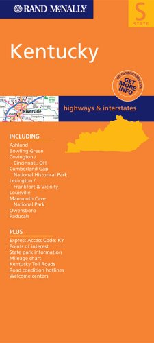 Rand Mcnally Kentucky: Highways and Interstates (Rand McNally Folded Map: States)