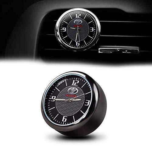 (COSMOSS Car Dashboard Analog Quartz Round Clock Compatible for Toyota)